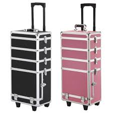 aluminum rolling makeup case cosmetic