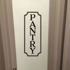 Pantry Sign Vinyl Wall Decal Pantry Decal Glass Door Decal Vinyl Lettering Rectangle Border Frame Sign Wall Sticker Vinyl Wall Decal Hh2180