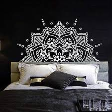 Amazon Com Half Mandala Wall Decal Vinyl Sticker Headboard Master Bedroom Boho Bohemian Decor Yoga Studio Namaste Ornament Mandala Decals Decor F129 Handmade