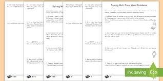 step math word problems worksheets