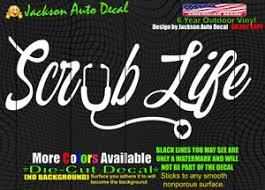 Nurse Scrub Life Love Doctor Hospital Car Window Vinyl Decal Bumper Sticker Ebay