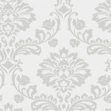 Graham & Brown Aurora White/Silver Wallpaper