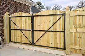 Wrought Iron Double Gate Walk Thru Lowes Google Search Wooden Gates Backyard Gates Wooden Fence Gate