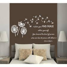 Shop Quotes When You Find Peace Within Yourself Flower Vinyl Stickers Interior Design Mural Sticker Decal Size 22x30 Color Black Overstock 14645977