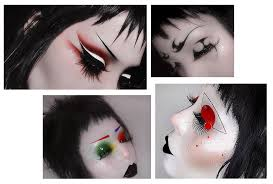 goths glitter glow five makeup