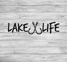 Lake Life Fish Hooks Cup Or Car Decal Etsy