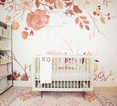 Marigold Mural Cute Brown Gold Floral Wallpaper For Little Girls Bedroom Anewall Anewall