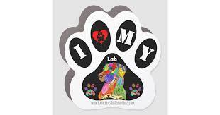 Cute I Love My Labrador Retriever Car Magnet Zazzle Com