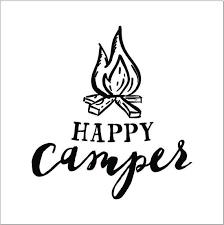 Happy Camper W Camp Fire Vinyl Decal Wall Art Gift Ideas Etsy