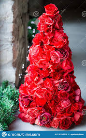 large group of red paper roses
