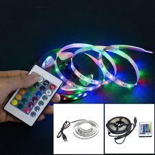 Dây đèn LED USB 2835 SMD DC 5V màu RGB dùng để trang trí