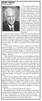 Obituary for Gary Ellsworth FISHER, 1942-2016 (Aged 73) - Newspapers.com