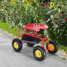 green goplus green red garden cart