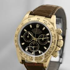 rolex yellow gold daytona black dial on