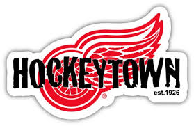 Detroit Red Wings Hockeytown Nhl Hockey Sticker Decal 5 Etsy