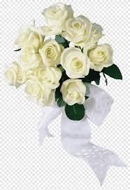 باقة من الورود الوردة البيضاء ترتيب الزهور الأبيض Png