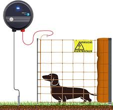 Voss Farming 100 M Complete Set Dog Electric Fence Power Net For Very Small Dogs Amazon Co Uk Garden Outdoors