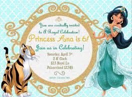 Invitacion De Cumpleanos De Jasmine De Disney Invitaciones De