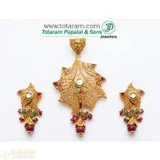 22k gold pendant earring sets gold