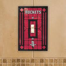 houston rockets art glass switch cover