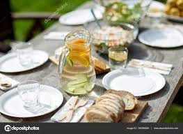 food for dinner at summer garden party