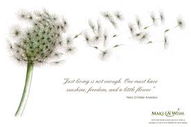 beautiful charity quote by hans christian anderson just living is