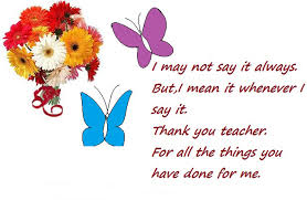 thank you teacher messages from students and parents