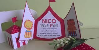 Invitacion De Cumpleanos En Forma De Circo Diy Invitaciones