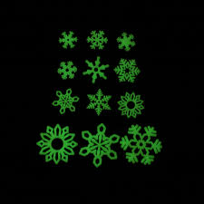 Ceiling Ornament Wall Art Fluorescent Stickers Glow In Dark Luminous Decal