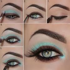 blue and brown makeup tutorial