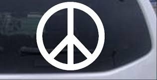 Peace Sign Symbol Car Or Truck Window Laptop Decal Sticker Ebay