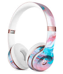 Amazon Com Marbleized Teal And Pink V2 Designskinz Full Body Skin Kit For The Beats By Dre Solo 2 Or 3 Wireless Headphones Ultra Thin Matte Finished Protective Skin Decal Wrap