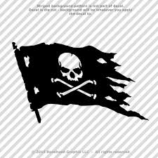25 Colors Kayak Skull And Paddles Flag Vinyl Decal Sticker