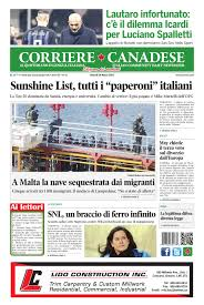 Corriere Canadese (29-03-2019) Pages 1 - 16 - Text Version