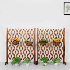 Expanding Trellis Wood Fence Garden Screen Growing Support Divider Freestanding Hombuilt Com