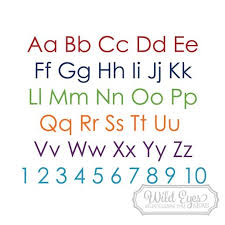 Alphabet Lettering Vinyl Wall Decal Modern Nursery Decor