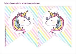 Mama Decoradora Kit Imprimible Unicornio Gratis