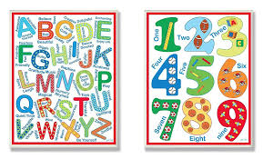 The Kids Room By Stupell 2 Piece Letters And Numbers Wall Plaque Set Littleduckusa Com