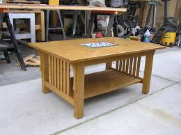 modified craftsman style coffee table