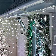 Solar Outdoor Curtain Lights 4m 1m 200 Led 8 Modes Solar Powered Fence Backdrop Led String Lights For Garden Patio Home Wedding Party Outdoor Wall Decoration Cool White Amazon Co Uk Lighting