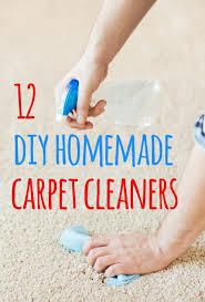12 easy to make homemade carpet cleaner