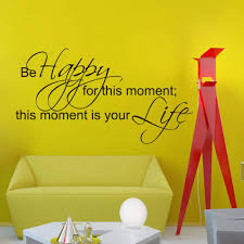 Amazon Com Vinyl Wall Decals Be Happy For This Moment This Moment Is Your Life Family Quote Decal Lettering Sticker Home Decor Art Mural Z681 Kitchen Dining