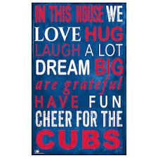 Official Chicago Cubs Wall Decorations Cubs Signs Posters Tavern Signs Mlbshop Com