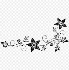 vector graphics flower border black