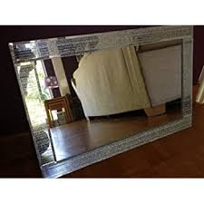 frameless large bathroom mirror with