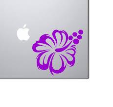 Hawaiian Hibiscus Flower Vinyl Car Laptop Decal Sticker Choose Color Size Children S Bedroom Girl Decor Decals Stickers Vinyl Art Home Garden Map India Org