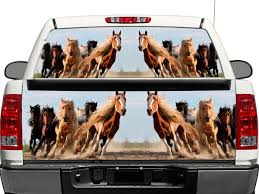Product Horses Running Wildlife Nature Rear Window Or Tailgate Decal Sticker Pick Up Truck Suv Car