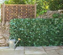 Artificial Fake Ivy Leaf Hedge Roll Private Screen Garden Wall Fence Balcony 3m Ebay