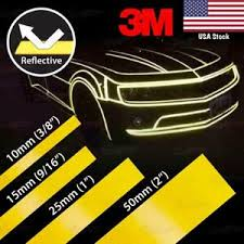 3 8 9 16 1 2 Reflective Safety Tape Weatherproof 3m Vinyl Decal Sticker Yellow Ebay
