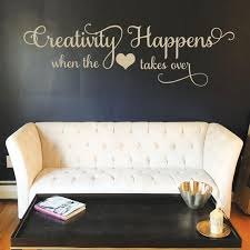 Creativity Happens Wall Decal Vinyl Decal Living Room Etsy